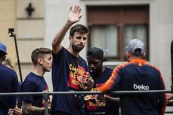 April 30, 2018 - Barcelona, Catalonia, Spain - Gerard Pique during the FC Barcelona Victory Parade at the streets of Barcelona on 30 of April of 2018 in Barcelona. (Credit Image: © Xavier Bonilla/NurPhoto via ZUMA Press)