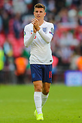 Mason Mount of England applauds the home fans after the UEFA European 2020 Qualifier match between England and Bulgaria at Wembley Stadium, London, England on 7 September 2019.