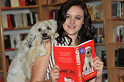 Anish Kapoor photocall & press view.  Ashleigh Butler and Pudsey photocall. Show dog, who came to prominence after winning Britain's Got Talent in 2011 with owner Ashleigh, appears at photocall for his 'autobidography', Pudsey: My Autobidography. Released 11 October 2012. Foyles, Charing Cross Road, London, United Kingdom, October 10, 2012. Photo by Nils Jorgensen / i-Images.
