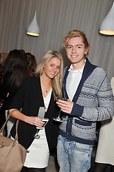 CLANCEY MACE and the HON.ALISTAIR LLOYD WEBBER at a party to celebrate the publication of Fame Game by Louise Fennell held at Grace, West Halkin Street, London on 12th March 2013.