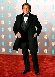 Valentino attending the 72nd British Academy Film Awards held at the Royal Albert Hall, Kensington Gore, Kensington, London.