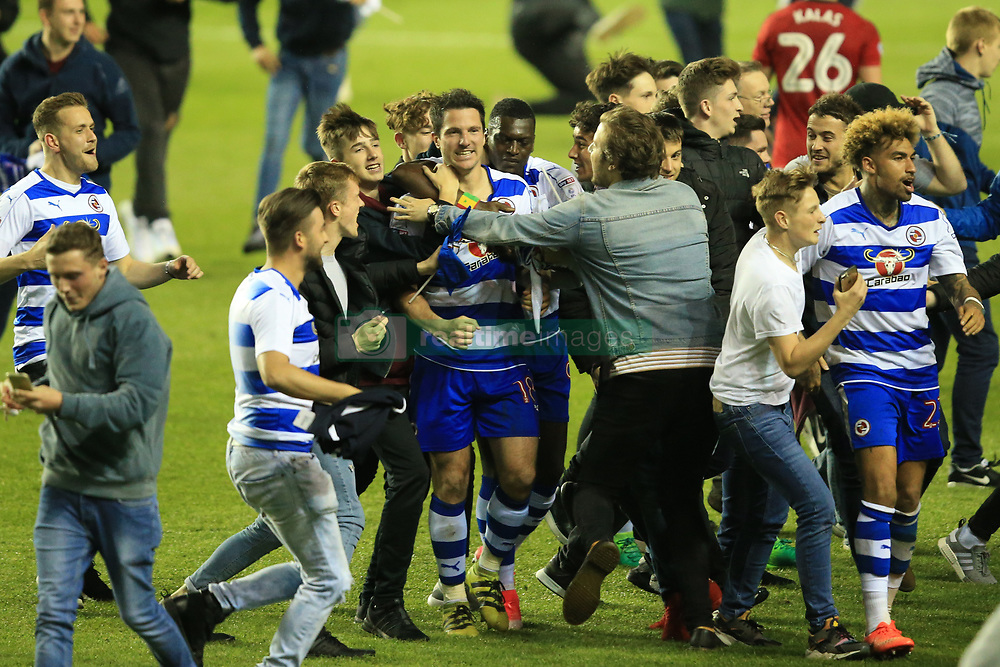 16 May 2017 - Sky Bet Championship - Play-off 2nd Leg - Reading v Fulham - Yann Kermorgant of Reading celebrates among the fans - Photo: Marc Atkins / Offside.