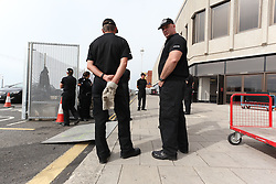 © under license to London News Pictures. 21/09/2012. Police Security preparations for the Liberal Democrats Party conference 2012 at the Brighton centre, Brighton UK. Xavier Itter/LNP