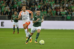 October 20, 2017 - Saint Etienne - Stade Geoffroy, France - Remy Cabella (saint etienne) vs Ellyes Skhrri  (Credit Image: © Panoramic via ZUMA Press)