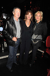 Left to right, NICK & NETTE MASON and AMANDA ELIASCH at a party to celebrate the publication of Cloak & Dagger Butterfly by Amanda Eliasch held at the Soho Revue Bar, London on 17th November 2008.