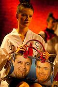 """Belo Horizonte_MG, 08 de Setembro de 2010...Campanha Antonio Anastasia ao Governo de Minas 2010...O governador Antonio Anastasia,candidato a reeleicao, juntamente com o ex governador Aecio Neves,candidato ao Senado e o Presidente da Assembleia Legislativa e candidato a vice governador Alberto Pinto Coelho, pela coligacao Somos Minas Gerais, recebeu, na noite desta quarta-feira (08/09), em Belo Horizonte, o manifesto de apoio a sua reeleicao assinado por 500 profissionais dos diversos segmentos da area cultural em Minas Gerais. O manifesto """"Cultura esta com Anastasia Liberdade e Arte"""" foi entregue durante encontro realizado no Centro Cultural 104, na Praca da Estacao. No documento, musicos, escritores, artistas plasticos, produtores,cineastas e artesaos reafirmaram o compromisso do setor com o futuro e continuidade dos avancos do ocorridos em Minas.Durante o evento, modelos desfilaram com roupas inspiradas na bandeira de Minas Gerais e na campanha pela reeleicao de Anastasia...Foto: RODRIGO LIMA / NITRO"""