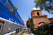 Amtrak Surfliner, San Juan Capistrano Train Depot, California, USA