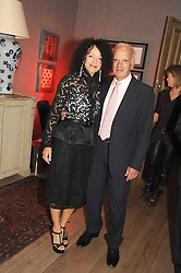 RICHARD POLO and TRICIA GUILD at the Andrew Martin 2008 International Interior Designer of the Year Award held at The Haymarket Hotel, 1 Suffolk Place, London SW1 on 22nd September 2008.