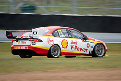 October 4, 2018 - Bathurst, NSW, U.S. - BATHURST, NSW - OCTOBER 04: Scott McLaughlin in the Shell V-Power Racing Team Ford Falcon slides off the track at the Supercheap Auto Bathurst 1000 V8 Supercar Race on October 04, 2018, at Mount Panorama Circuit in Bathurst, Australia. (Photo by Speed Media/Icon Sportswire) (Credit Image: © Speed Media/Icon SMI via ZUMA Press)