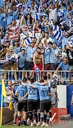 June 25, 2018 - Samara, Russia - FIFA World Cup 2018  Fotbolls-VM, match 33, Uruguay-Ryssland,  Samara Stadium.  Uruguay vs Russia, Group A, Samara Arena, Samara, Russia, 25 June 2018, (Credit Image: © Orre Pontus/Aftonbladet/IBL via ZUMA Wire)