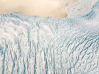 Aerial view of Vatnajökull Water Glacier in Iceland.