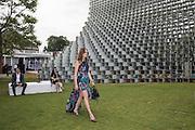 LADY VIOLET MANNERS, 2016 SERPENTINE SUMMER FUNDRAISER PARTY CO-HOSTED BY TOMMY HILFIGER. Serpentine Pavilion, Designed by Bjarke Ingels (BIG), Kensington Gardens. London. 6 July 2016
