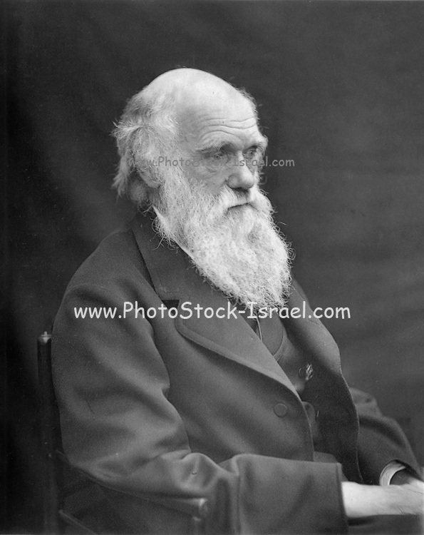 Photograph of Charles Darwin taken by his son Leonard around 1874 when Darwin was in his mid sixties. It appeared in 'Charles Darwin. A Paper Contributed to the Transactions of the Shropshire Archaeological Society' By Edward Woodall 1884.