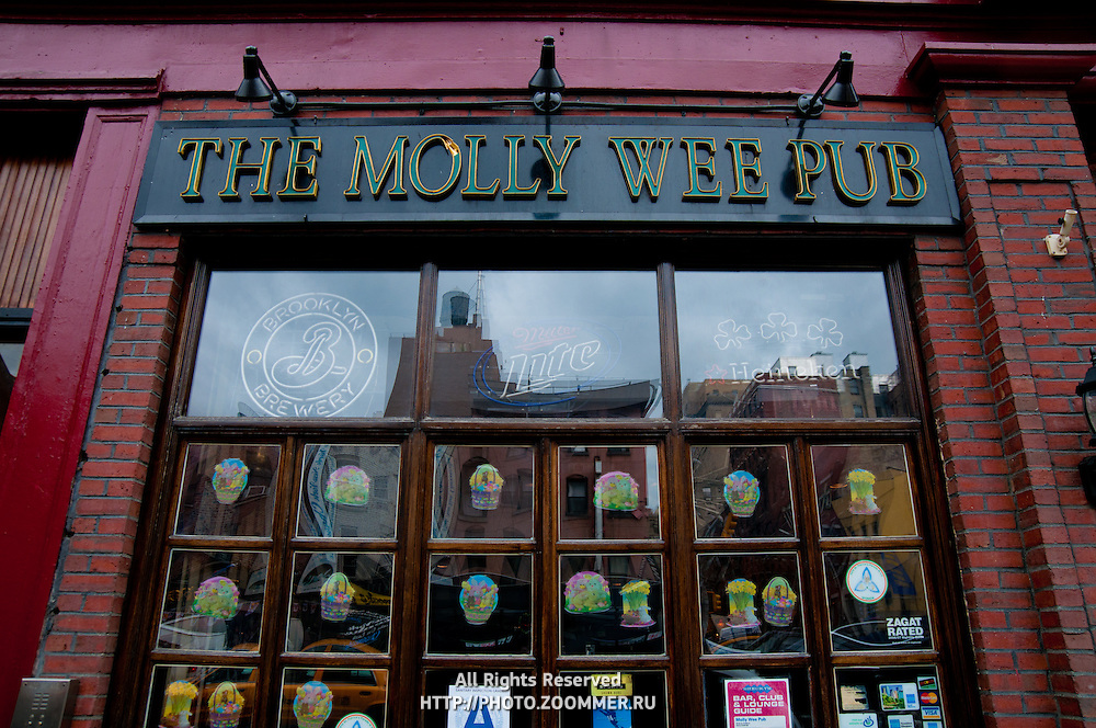 The Irish Molly Wee Pub on Manhattan, New York