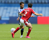 Sheffield Wednesday's Jacob Murphy vies for possession with Nottingham Forest's Yuri Ribeiro<br /> <br /> Photographer Rich Linley/CameraSport<br /> <br /> The EFL Sky Bet Championship - Sheffield Wednesday v Nottingham Forest - Saturday 20th June 2020 - Hillsborough - Sheffield <br /> <br /> World Copyright © 2020 CameraSport. All rights reserved. 43 Linden Ave. Countesthorpe. Leicester. England. LE8 5PG - Tel: +44 (0) 116 277 4147 - admin@camerasport.com - www.camerasport.com