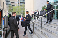 Marcus Rashford Forward of Manchester United and Jesse Lingard Midfielder of Manchester United depart the Lowry hotel before the Manchester United vs Celta Vigo match  at Old Trafford, Manchester, United Kingdom on 11 May 2017. Photo by Phil Duncan.