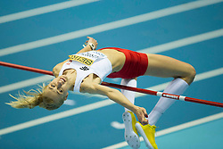 07.03.2014, Ergo Arena, Sopot, POL, IAAF, Leichtathletik Indoor WM, Sopot 2014, Tag 1, im Bild JUSTYNA KASPRZYCKA SKOK WZWYZ // JUSTYNA KASPRZYCKA SKOK WZWYZ during day one of IAAF World Indoor Championships Sopot 2014 at the Ergo Arena in Sopot, Poland on 2014/03/07. EXPA Pictures © 2014, PhotoCredit: EXPA/ Newspix/ Radoslaw Jozwiak<br /> <br /> *****ATTENTION - for AUT, SLO, CRO, SRB, BIH, MAZ, TUR, SUI, SWE only*****