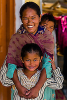 Village of Tangtse, Ladakh, Jammu and Kashmir State, India.