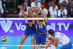 SIMONE ANZANI A MURO<br /> <br /> Italy vs Slovenia<br /> Volleyball men's world championship <br /> Florence September 18, 2018