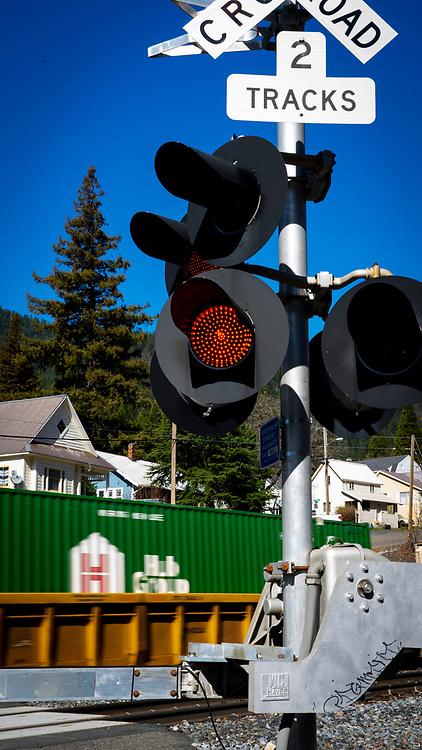 Union Pacific Railroad Crossing at Dunsmuir, California