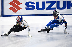 February 8, 2019 - Torino, Italia - Foto LaPresse/Nicolò Campo .8/02/2019 Torino (Italia) .Sport.ISU World Cup Short Track Torino - 500 meter Men Preliminaries.Nella foto: Ji Won Park (S), Pavel Sitnikov..Photo LaPresse/Nicolò Campo .February 8, 2019 Turin (Italy) .Sport.ISU World Cup Short Track Turin - 500 meter Men Preliminaries.In the picture: Ji Won Park (L), Pavel Sitnikov (Credit Image: © Nicolò Campo/Lapresse via ZUMA Press)