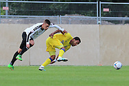 AFC Wimbledon striker Andy Barcham (17) during the Pre-Season Friendly match between Dover Athletic and AFC Wimbledon at Crabble Athletic Ground, Dover, United Kingdom on 12 July 2016. Photo by Stuart Butcher.