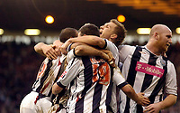 Photo: Leigh Quinnell.<br /> West Bromwich Albion v Coventry City. Coca Cola Championship. 16/12/2006. Jason Koumas celebrates with his team after his goal.