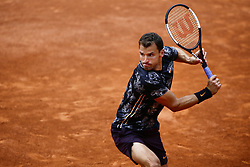 May 29, 2019 - Paris, France - Bulgaria's Grigor Dimitrov returns the ball to Croatia's Marin Cilic during their men's singles second round match on day four of The Roland Garros 2019 French Open tennis tournament in Paris on May 29, 2019. (Credit Image: © Ibrahim Ezzat/NurPhoto via ZUMA Press)