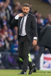 Aberdeen's manager Derek McInnes during the Betfred Cup semi final match at Hampden Park, Glasgow.
