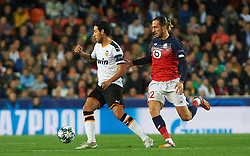 November 5, 2019, Valencia, Valencia, Spain: Daniel Parejo of Valencia and Yusuf Yazici of Losc Lille during the during the UEFA Champions League group H match between Valencia CF and Losc Lille at Estadio de Mestalla on November 5, 2019 in Valencia, Spain (Credit Image: © AFP7 via ZUMA Wire)