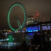 St Patrick's day London landmarks go Green