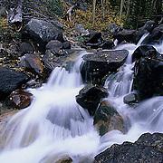 Montana, Rivers, Small waterfall off Beartooth Highway. Fall.