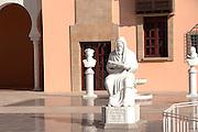 Israel, Caesarea, Ralli Museum of modern art Statue of Judah Halevi