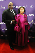 January 12, 2013- Washington, D.C- (L-R) Rev. T.D. Jakes (Honoree) and wife Serita Jakes attend the 2013 BET Honors Red Carpet held at the Warner Theater on January 12, 2013 in Washington, DC. BET Honors is a night celebrating distinguished African Americans performing at exceptional levels in the areas of music, literature, entertainment, media service and education. (Terrence Jennings)