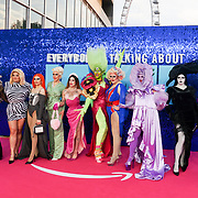 Drag Queen attended 'Everybody's Talking About Jamie' film premiere at Royal Festival Hall, London, UK. 13 September 2021