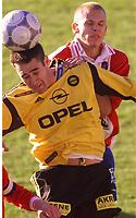 20010506: Clayton Zane, Lillestrøm, scoret to mål mot Lyn på Åråsen.