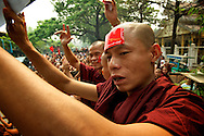 Monks have long supported and fought for freedom next to the National League for Democracy.