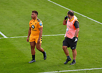 Rugby Union - 2019 / 2020 Gallagher Premiership - Bath vs Wasps<br /> <br /> Wasps' Gabriel Oghre leaves the pitch injured, at the Recreation Ground.<br /> <br /> COLORSPORT/ASHLEY WESTERN
