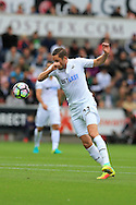 Gylfi Sigurdsson of Swansea city in action. Premier league match, Swansea city v Hull city at the Liberty Stadium in Swansea, South Wales on Saturday 20th August 2016.<br /> pic by Andrew Orchard, Andrew Orchard sports photography.