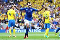 Esultanza Gol Martin Eder Italia Goal celebration <br /> Toulouse 17-06-2016 Stade de Toulouse <br /> Football Euro2016 Italy - Sweden / Italia - Svezia Group Stage Group E<br /> Foto Matteo Ciambelli / Insidefoto