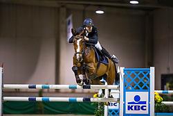 Holsbeek Rob, BEL, Maybel van het Molenhof<br /> Klasse Zwaar<br /> Nationaal Indoor Kampioenschap Pony's LRV <br /> Oud Heverlee 2019<br /> © Hippo Foto - Dirk Caremans<br /> 09/03/2019