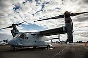USA, Oregon, Hillsboro, MV-22 Osprey at Oregon International Airshow. digital composite, HDR