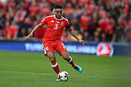Neil Taylor of Wales in action. Wales v Georgia , FIFA World Cup qualifier, European group D match at the Cardiff city Stadium in Cardiff on Sunday 9th October 2016. pic by Andrew Orchard, Andrew Orchard sports photography