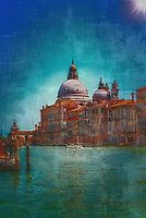 """The Basilica of Santa Maria della Salute Venice radiates in the distance on the Grand Canal – Copious""… <br />