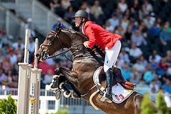 BRUYNSEELS Niels (BEL), Cas de Liberte<br /> Tryon - FEI World Equestrian Games™ 2018<br /> 2. Qualifikation Teamwertung 2. Runde<br /> 21. September 2018<br /> © www.sportfotos-lafrentz.de/Stefan Lafrentz