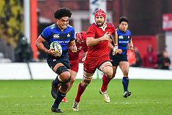 Hendrik Tui of Japan makes a break<br /> <br /> Photographer Craig Thomas<br /> <br /> Japan v Russia<br /> <br /> World Copyright ©  2018 Replay images. All rights reserved. 15 Foundry Road, Risca, Newport, NP11 6AL - Tel: +44 (0) 7557115724 - craig@replayimages.co.uk - www.replayimages.co.uk