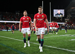 British and Irish Lions' Owen Farrell after the third test of the 2017 British and Irish Lions tour is drawn at Eden Park, Auckland.