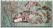 Painting by Tsul-ton (Bill Bailey) of Samish Indian Nation in Anacortes, Fidalgo Island, Washington, USA.