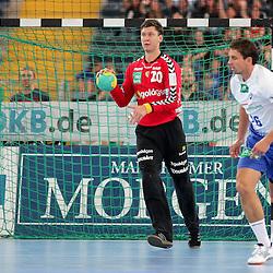 Rhein-Neckars Niklas Landin-Jacobsen (Nr.20) nach einer Parade im Spiel Rhein-Neckar-Loewen - HSV Handball.<br /> <br /> Foto © P-I-X.org *** Foto ist honorarpflichtig! *** Auf Anfrage in hoeherer Qualitaet/Aufloesung. Belegexemplar erbeten. Veroeffentlichung ausschliesslich fuer journalistisch-publizistische Zwecke. For editorial use only.