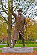 """The Starter"" statue of George Brown at the starting line of the Boston Marathon, Hopkinton, Massachusetts"